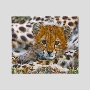 Cheetah Cub Throw Blanket