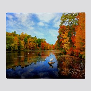 Connecticut Fall Colors Throw Blanket