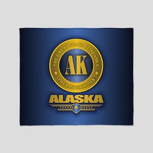 Alaska Gold Initials Throw Blanket