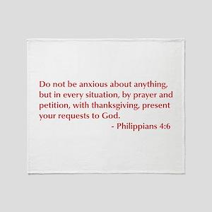 Philippians-4-6-opt-burg Throw Blanket