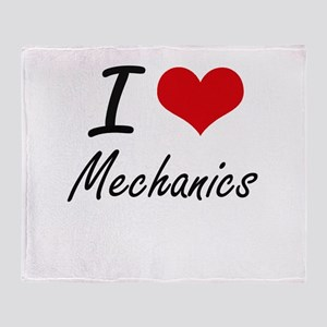 I Love Mechanics Throw Blanket