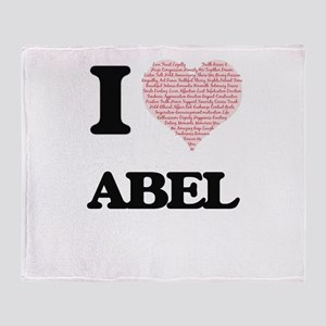 I Love Abel (Heart Made from Love wo Throw Blanket