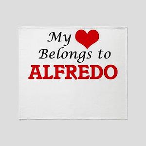 My heart belongs to Alfredo Throw Blanket