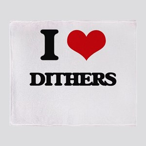 I Love Dithers Throw Blanket