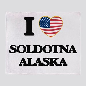 I love Soldotna Alaska Throw Blanket