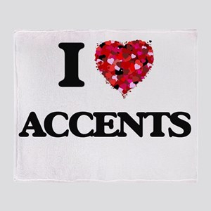 I Love Accents Throw Blanket