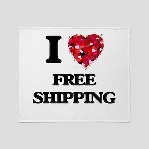 I love Free Shipping Throw Blanket