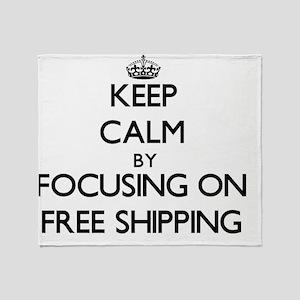 Keep Calm by focusing on Free Shippi Throw Blanket