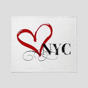 LOVE NYC FANCY Throw Blanket