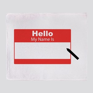 My Name Is Throw Blanket