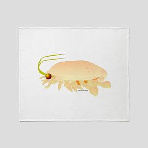 Mole Shrimp Sand Crab Sand Flea Throw Blanket