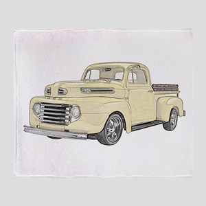 1950 Ford F1 Throw Blanket