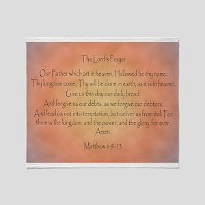 The Lord's Prayer Christian Throw Blanket