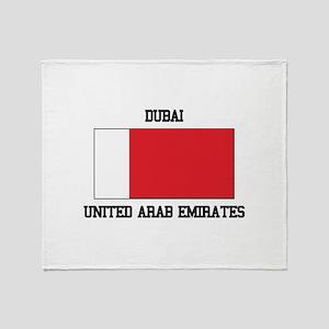 Dubai UAE Throw Blanket