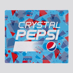 Crystal Pepsi Throw Blanket