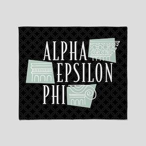 Alpha Epsilon Phi Logo Throw Blanket