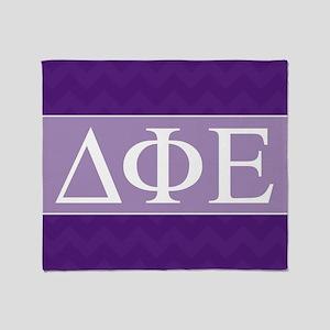 Delta Phi Epsilon Letters Throw Blanket