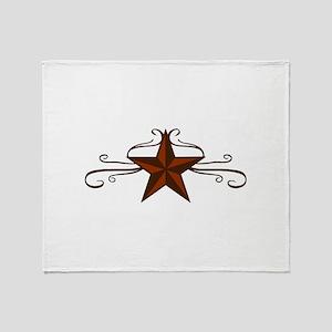 WESTERN STAR SCROLL Throw Blanket