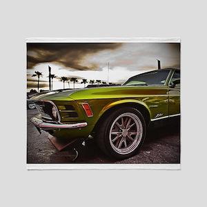 70 Mustang Mach 1 Throw Blanket