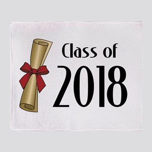 Class of 2018 Diploma Throw Blanket