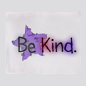 Be Kind with Colorful Text and Purple Star Throw B