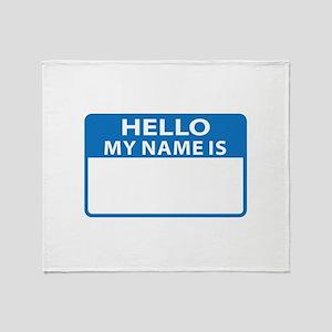 NAME DROP NAME TAG Throw Blanket
