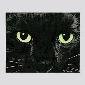 Black Cat Pearl Throw Blanket