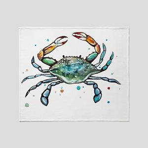 Maryland Blue Crab Throw Blanket