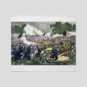 The battle of Gettysburg, Pa - 1863 Throw Blanket