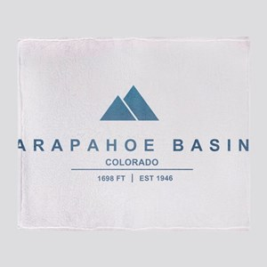 Arapahoe Basin Ski Resort Colorado Throw Blanket