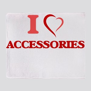 I Love Accessories Throw Blanket