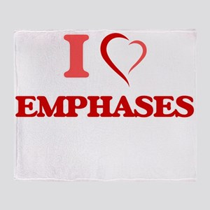 I love EMPHASES Throw Blanket