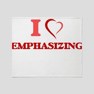 I love EMPHASIZING Throw Blanket