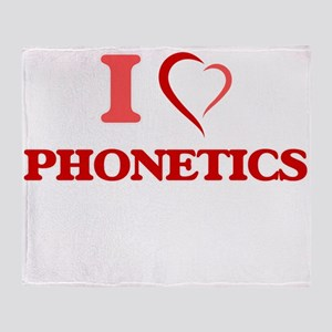 I Love Phonetics Throw Blanket