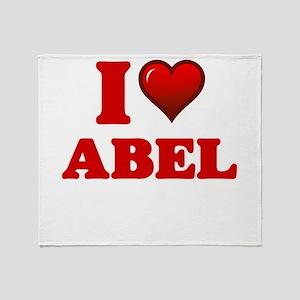 I love Abel Throw Blanket