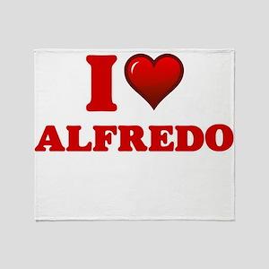 I love Alfredo Throw Blanket