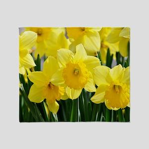 Trumpet Daffodil Throw Blanket