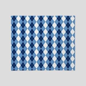 Carolina Blue Argyle Sock Pattern No Throw Blanket
