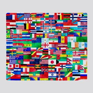 Flag Collage Throw Blanket