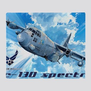 Air Force AC-130 Spectre Throw Blanket
