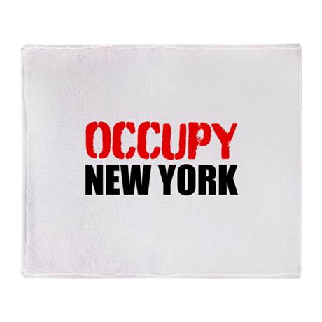 OCCUPY NEW YORK Throw Blanket