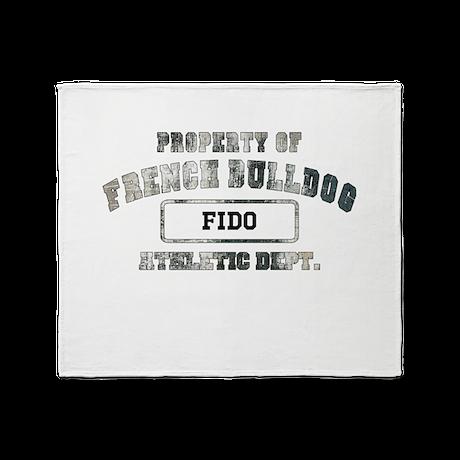 Personalized French Bulldog Throw Blanket