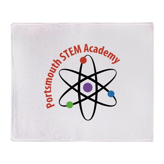 Stem School Virginia: Portsmouth STEM Academy Throw Blanket By PortsmouthSTEM