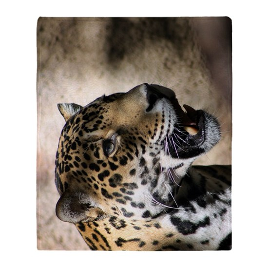 Jaguar Blanket: Jaguar 4 Throw Blanket By RebeccaFowlesPhotography
