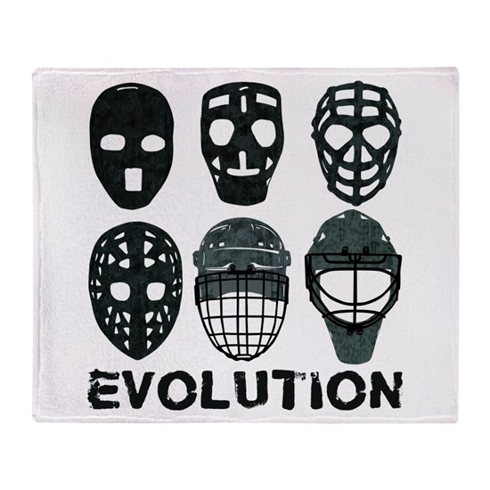 Hockey Goalie Mask Evolution Throw Blanket By Brando Cafepress