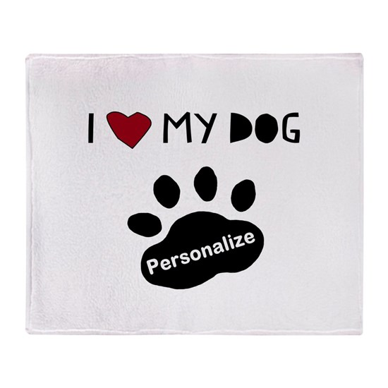 415076895d4a Personalized Dog Throw Blanket by TotsOFun - CafePress