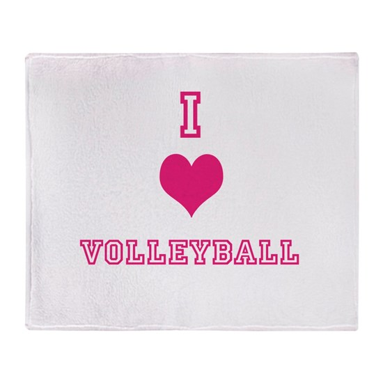 Beach Blanket Volleyball: Volleyball Throw Blanket By Sports