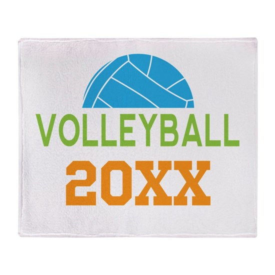Beach Blanket Volleyball: Custom Volleyball Throw Blanket By HomewiseShopper