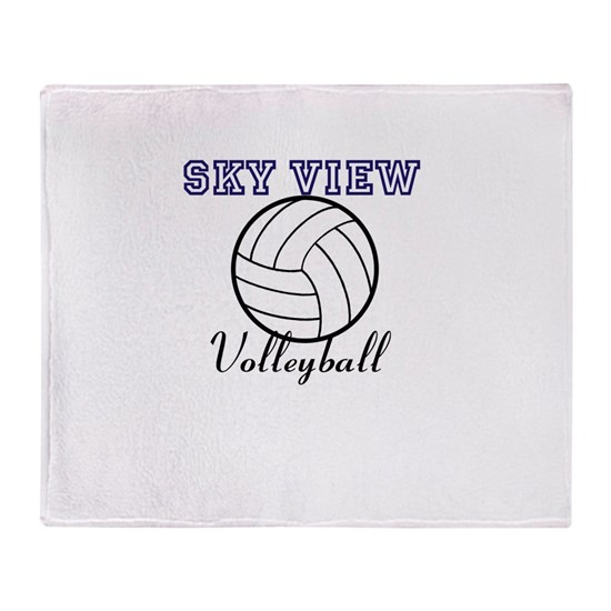 Beach Blanket Volleyball: Sky View Volleyball Throw Blanket By The Sky Mall