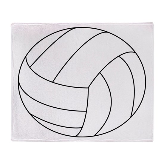 Beach Blanket Volleyball: Volleyball Throw Blanket By Wyld Zebraz